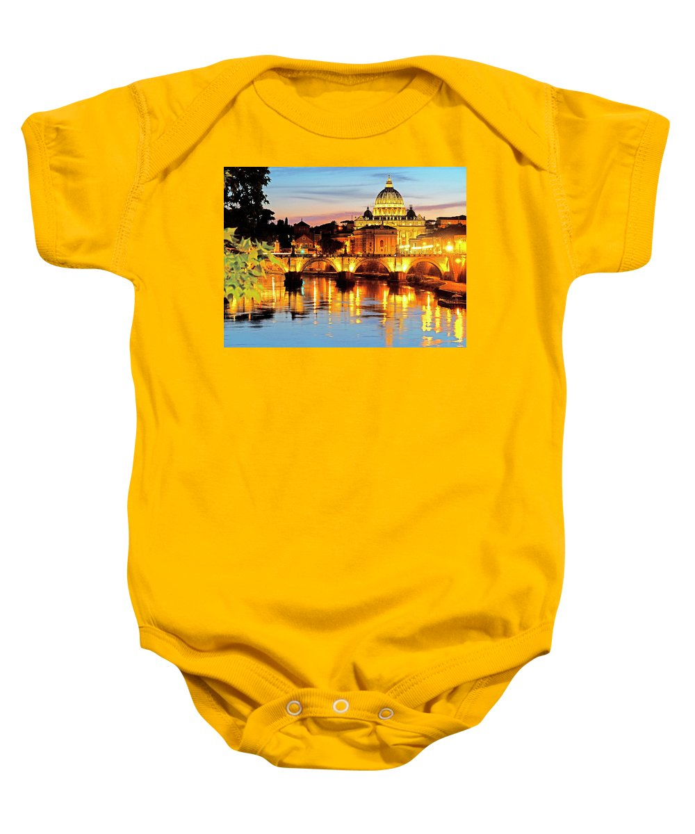 Italy Baby Onesie featuring the photograph Vatican's St. Peter's by Dennis Cox