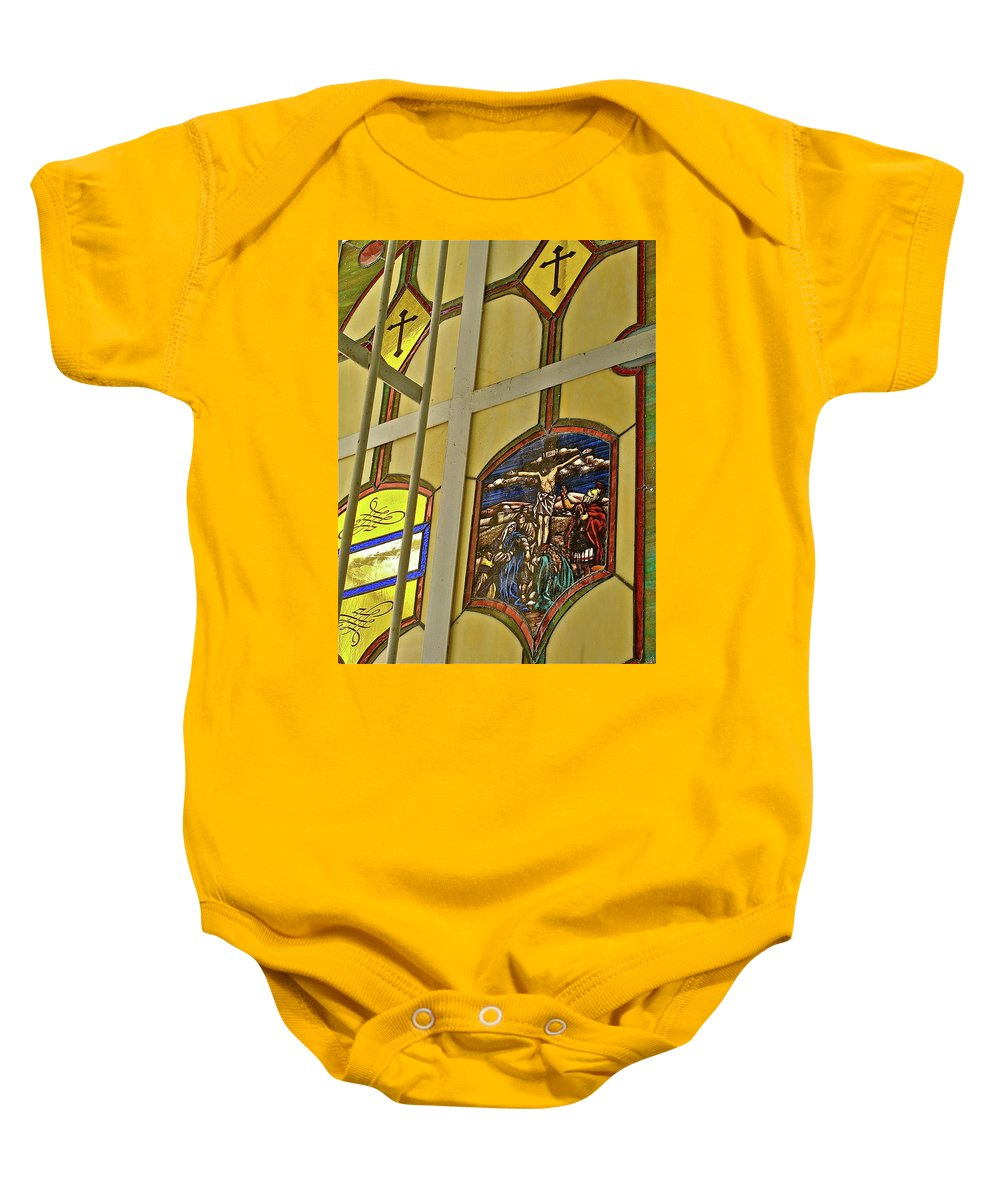 Church Baby Onesie featuring the photograph Ventana Dos by Diana Hatcher