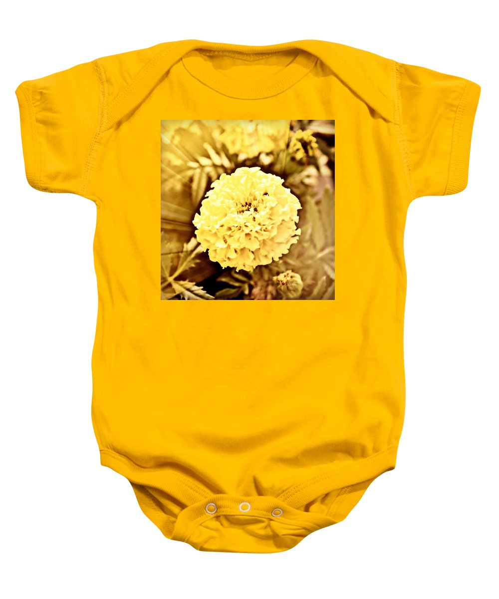 Victorian Spring Baby Onesie featuring the photograph Victorian Spring by Ally White