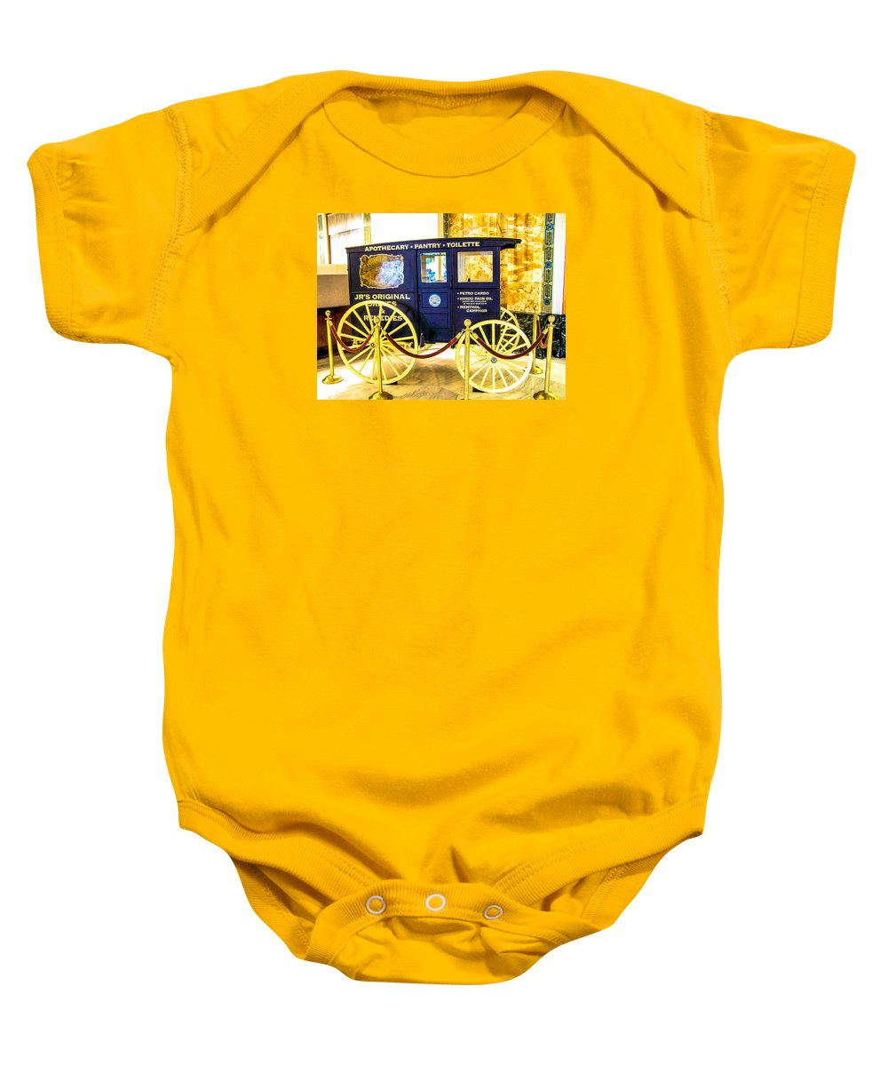Antique Baby Onesie featuring the photograph Vintage Delivery Wagon by Tom Zukauskas