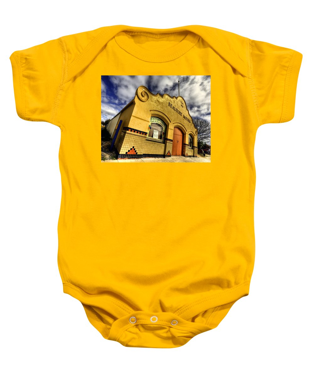 Architecture Baby Onesie featuring the photograph Vintage Gem by Wayne Sherriff