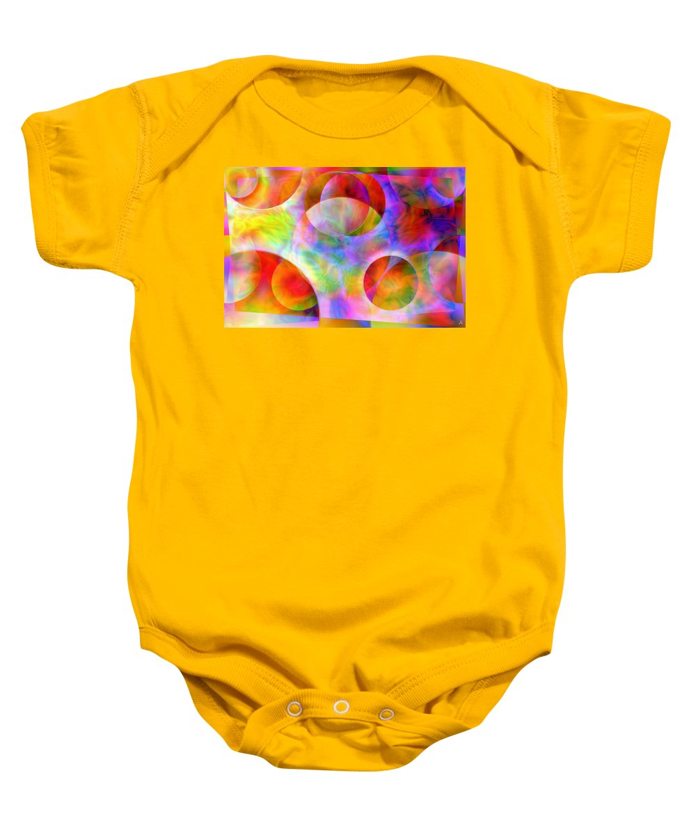 Colors Baby Onesie featuring the digital art Vision 29 by Jacques Raffin