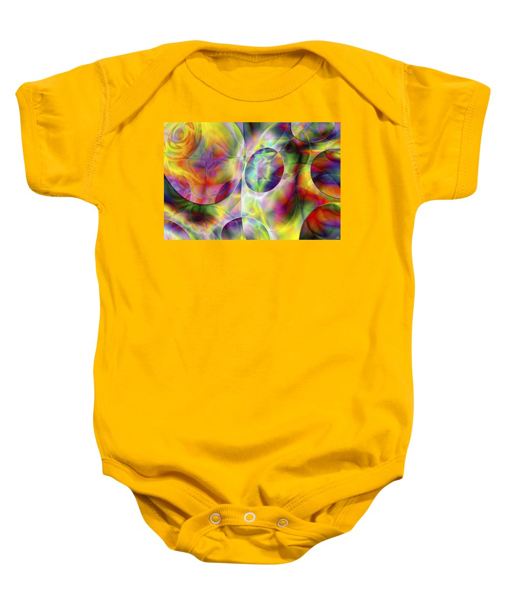 Colors Baby Onesie featuring the digital art Vision 36 by Jacques Raffin