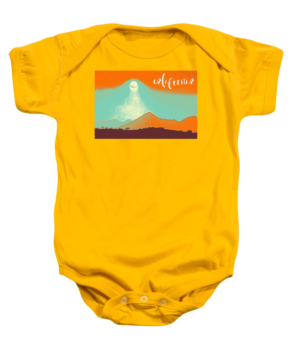 Nature Baby Onesie featuring the painting Visit California Travel Poster by Celestial Images