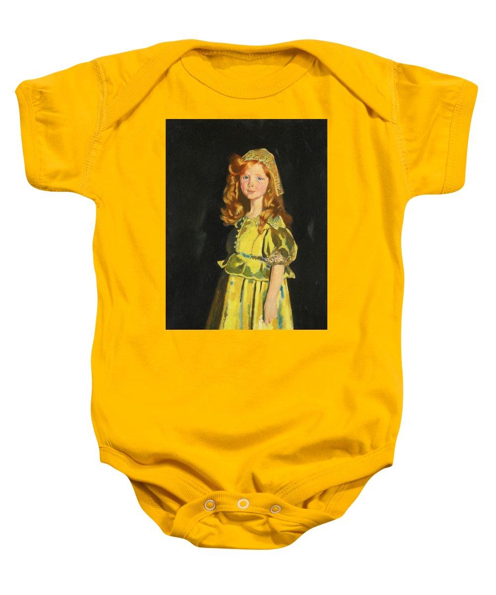 Vivien St George By William Orpen Baby Onesie featuring the painting Vivien by William Orpen