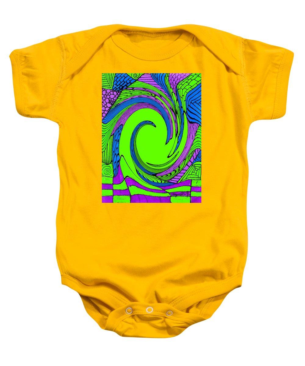 Vortex Baby Onesie featuring the painting Vortex by Wayne Potrafka