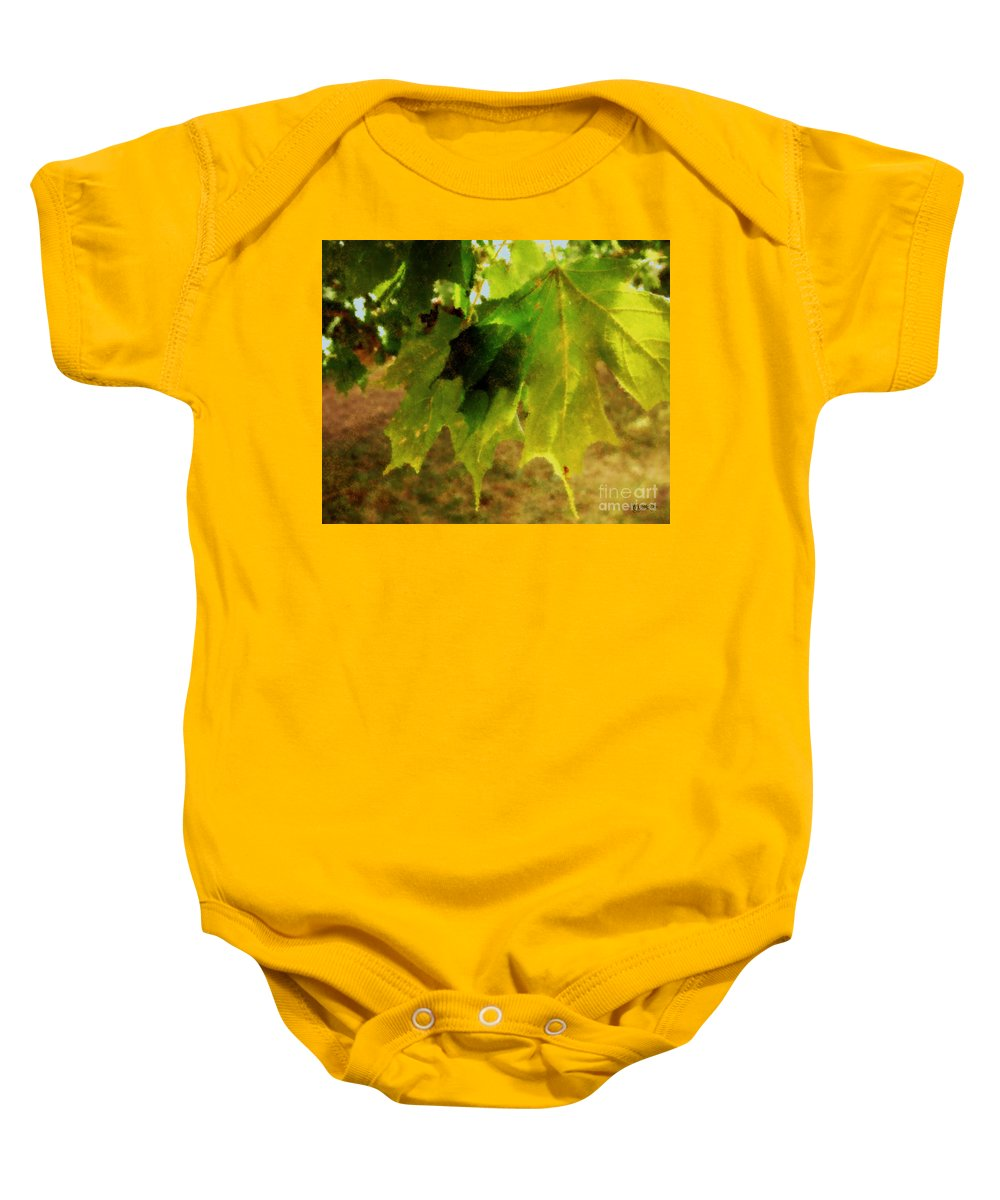 Autumn Baby Onesie featuring the painting Waiting For Winter by RC DeWinter