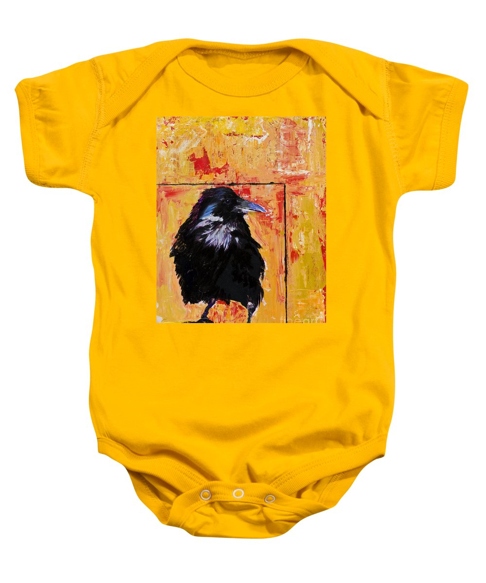 Large Decorative Fine Art Prints Baby Onesie featuring the painting Watch And Learn by Pat Saunders-White