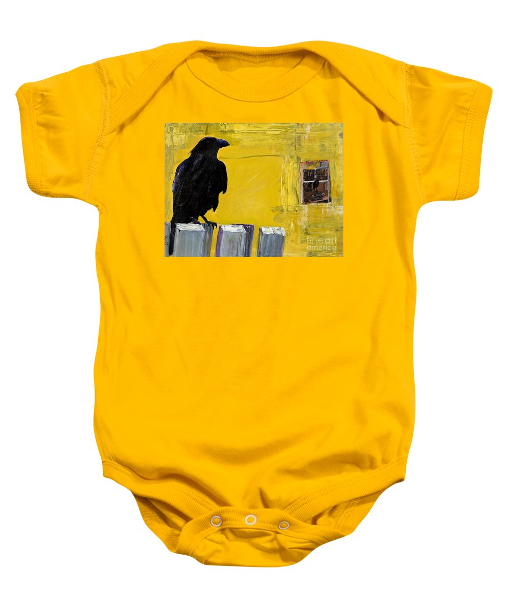 Pat Saunders-white Canvas Prints Baby Onesie featuring the painting Watching by Pat Saunders-White