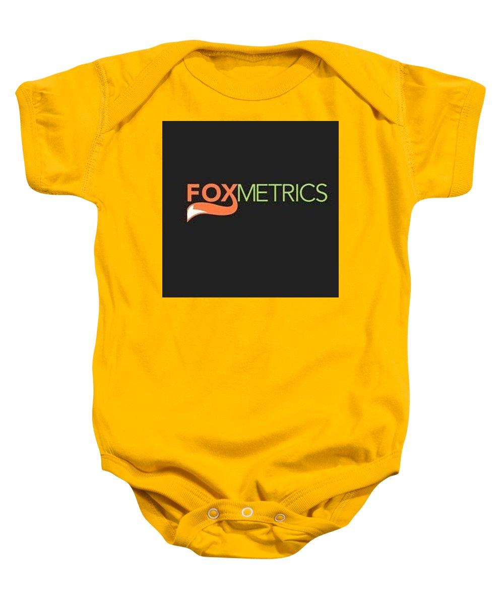 Web Analytics Tool Baby Onesie featuring the digital art Web Analytics Tool By Foxmetrics by Rydal Williams