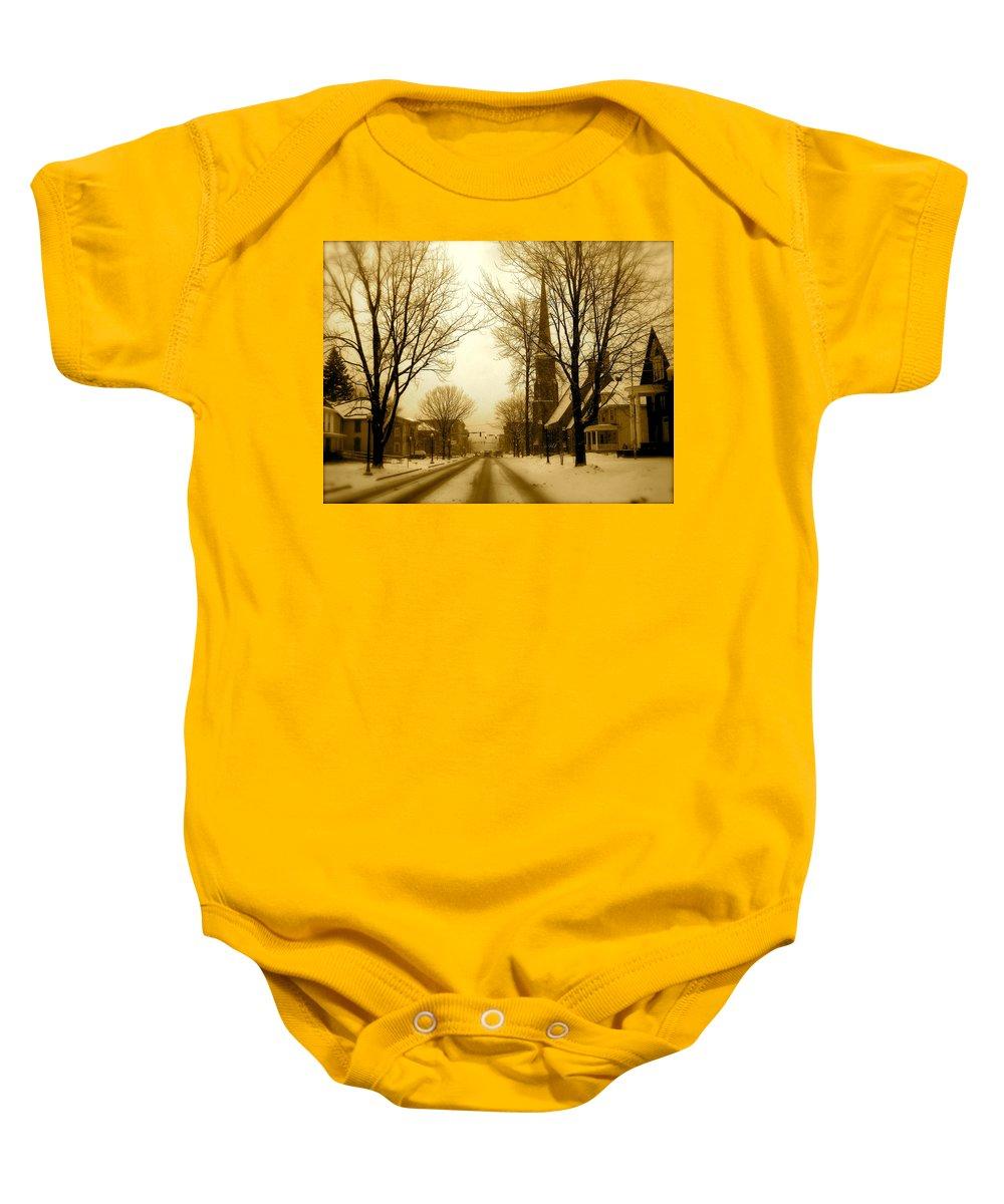 Landscape Baby Onesie featuring the photograph West Center by Arthur Barnes