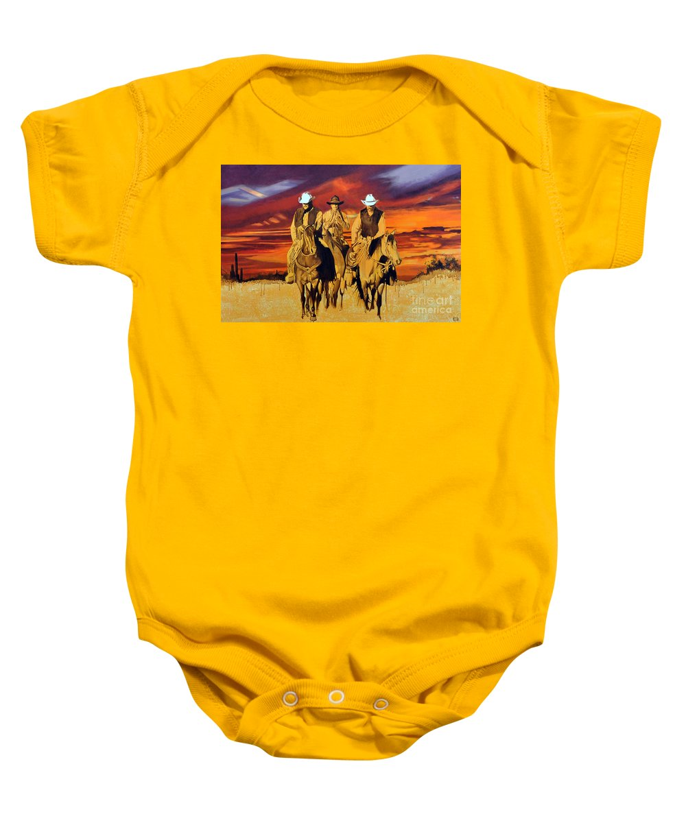Cowboys Baby Onesie featuring the painting Arizona Sunset by Michael Stoyanov