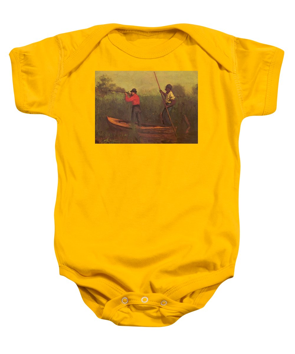Will Baby Onesie featuring the painting Will Schuster And A Black 1876 by Eakins Thomas