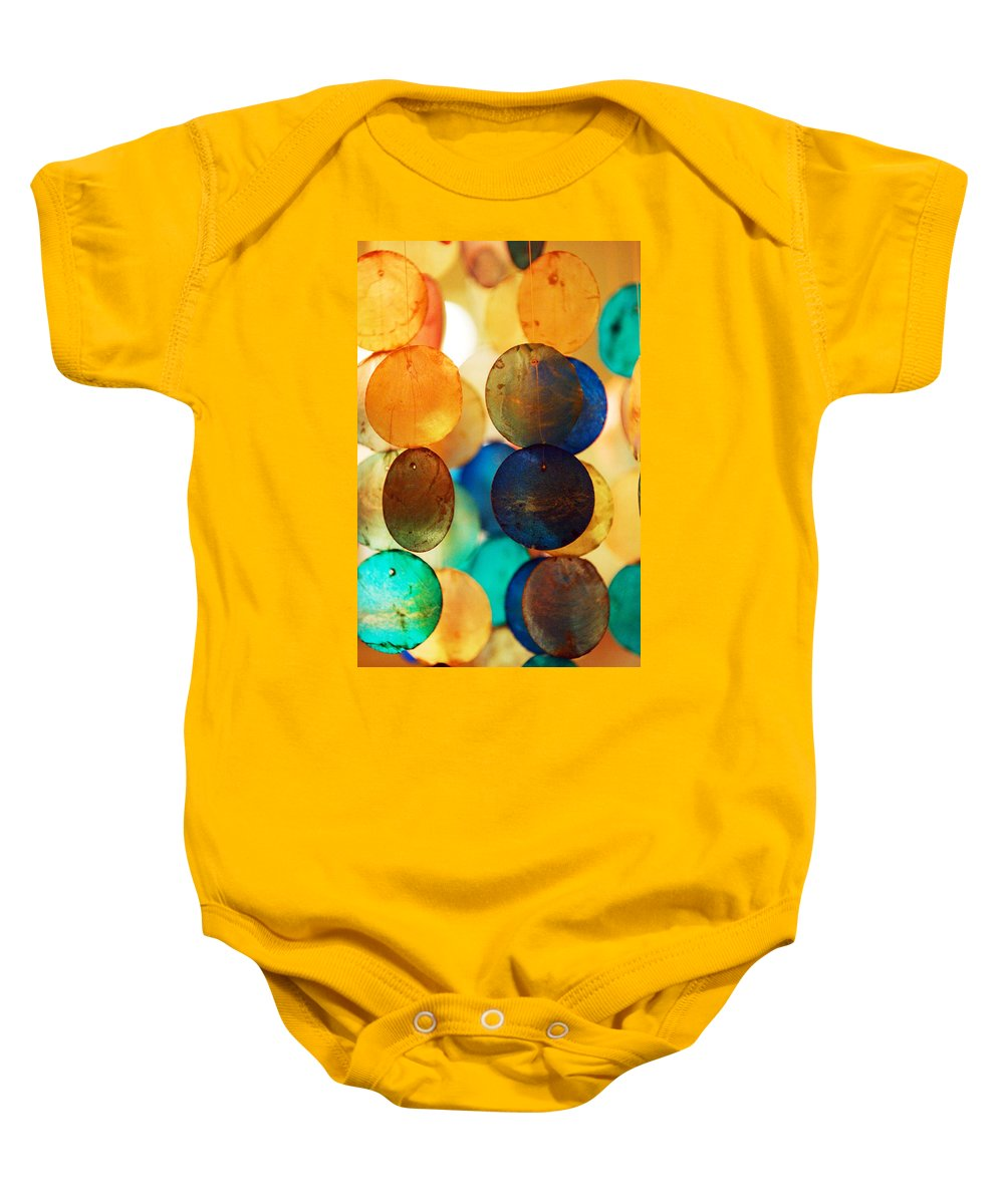 Wind Chimes Baby Onesie featuring the photograph Wind Chimes by Jill Reger