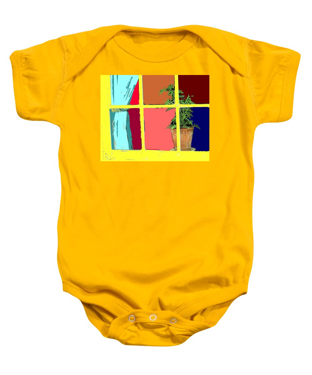 Window Baby Onesie featuring the photograph Window by Ian MacDonald