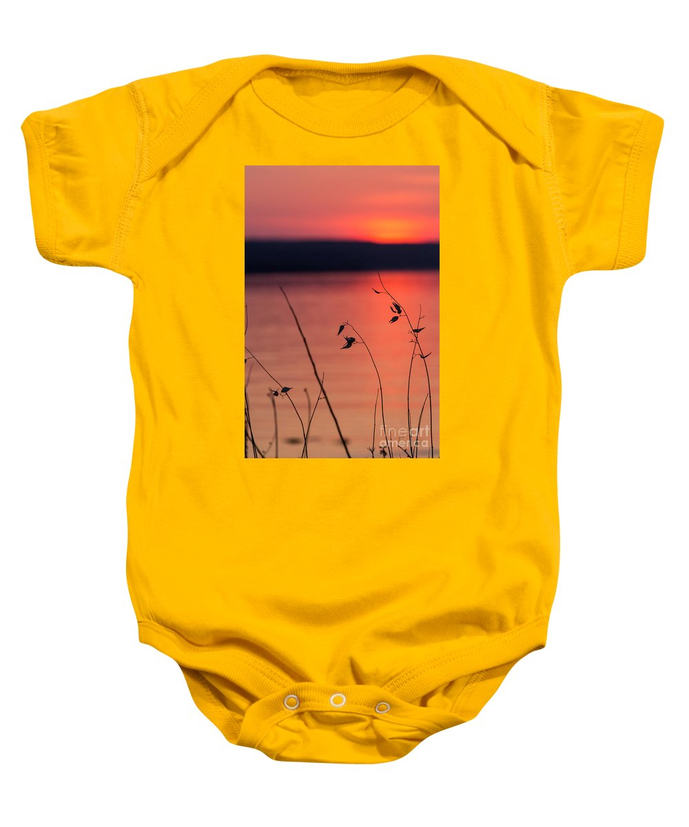 Baby Onesie featuring the photograph Winter Sunset I by Michele Steffey
