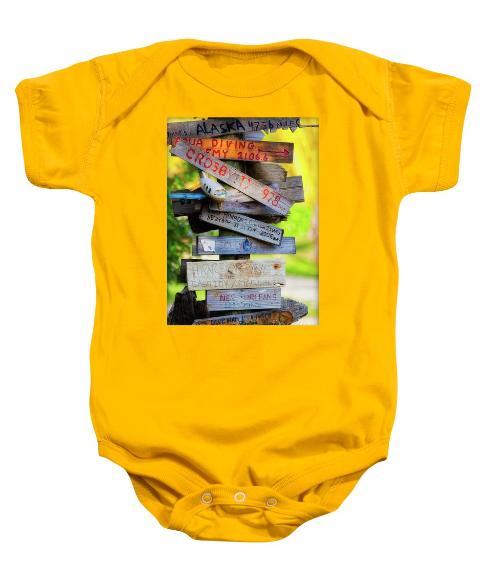 Coco View Resort Baby Onesie featuring the photograph World Traveler by Doug Sturgess