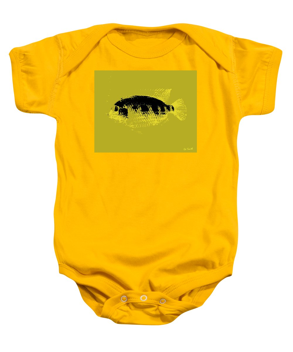 Yellow Fish Baby Onesie featuring the photograph Yellow Fish by Ed Smith