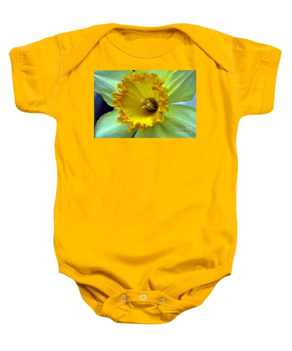 Clay Baby Onesie featuring the photograph Yellow Floral by Clayton Bruster