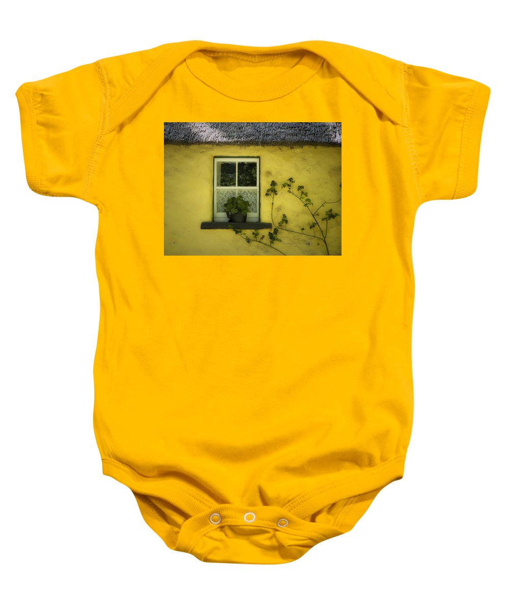 Irish Baby Onesie featuring the photograph Yellow House County Clare Ireland by Teresa Mucha