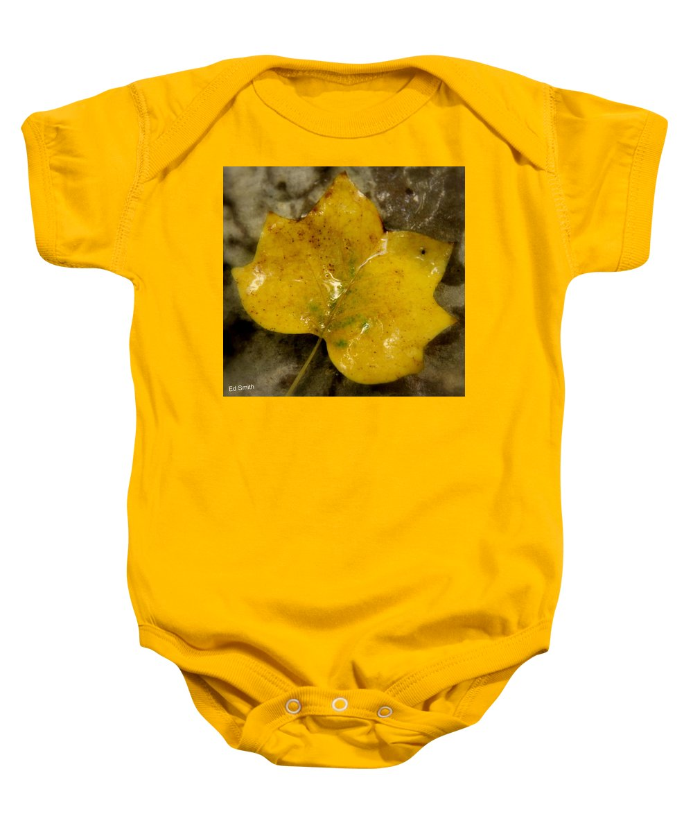 Yellow Ice Baby Onesie featuring the photograph Yellow Ice by Ed Smith