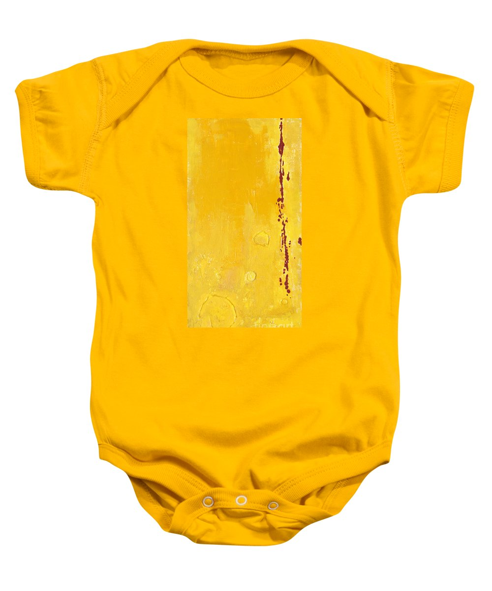 Mixed Media Baby Onesie featuring the mixed media Yellow by Jaime Becker
