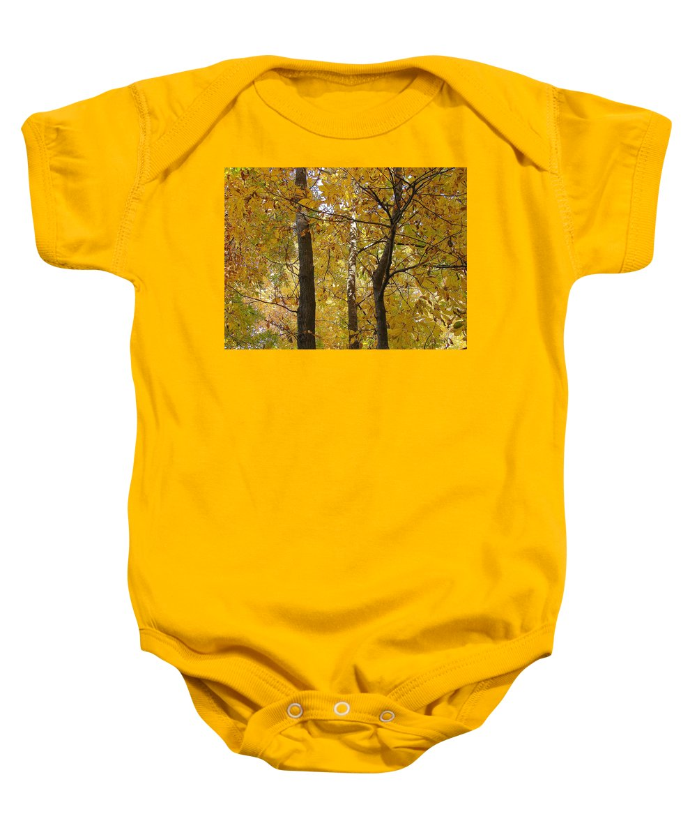 Baby Onesie featuring the photograph Yellow Magic by Luciana Seymour