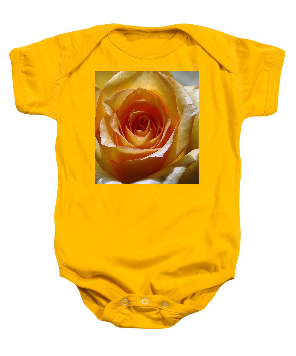 Rose Yellow Baby Onesie featuring the photograph Yellow Rose by Luciana Seymour