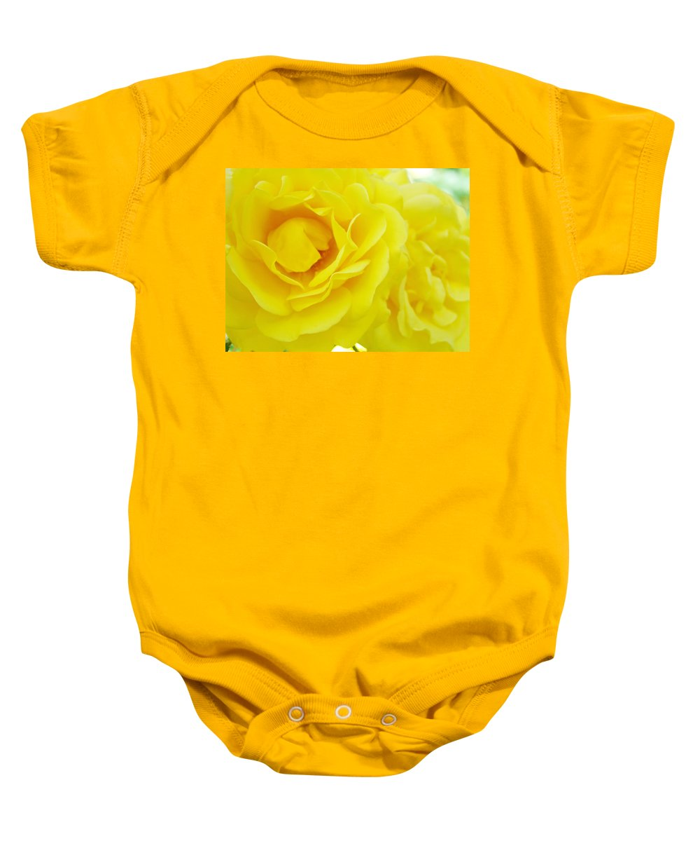 Rose Baby Onesie featuring the photograph Yellow Roses Art Prints Botanical Giclee Prints Baslee Troutman by Baslee Troutman