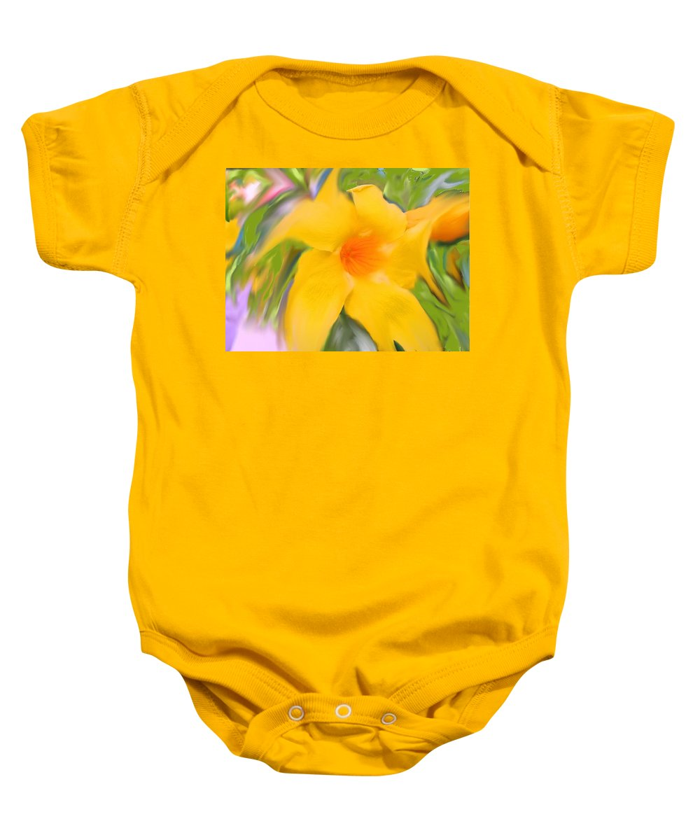 Yellow Baby Onesie featuring the photograph Yellow Stretch by Ian MacDonald