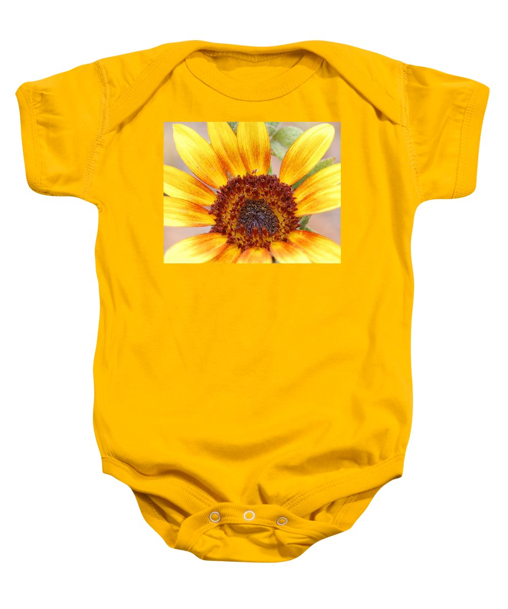 Sunflower Baby Onesie featuring the photograph Yellow Sunflower by Amy Fose