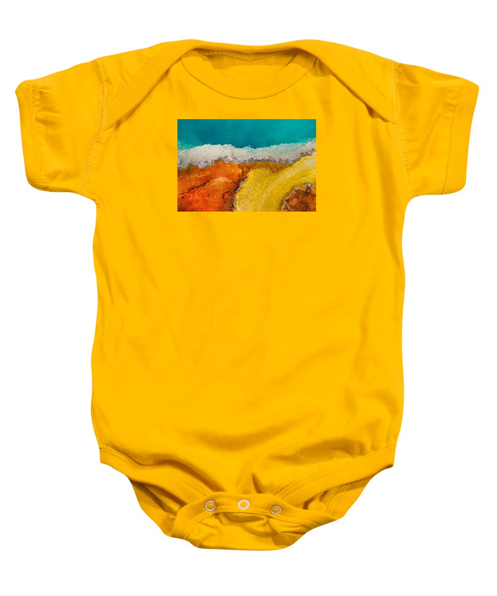 Pool Baby Onesie featuring the photograph Yellowstone Pool by Grant Groberg