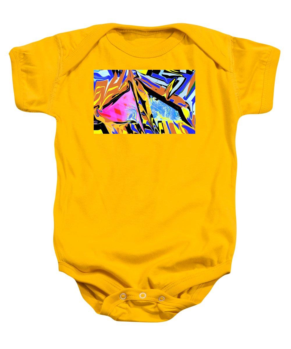 Abstract Baby Onesie featuring the digital art Zulu by Ian MacDonald