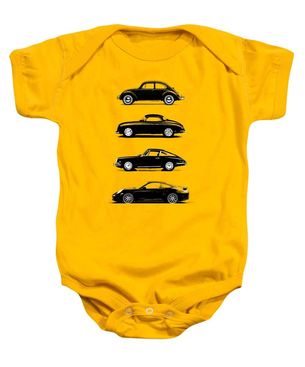 Porsche Baby Onesie featuring the photograph Evolution by Mark Rogan