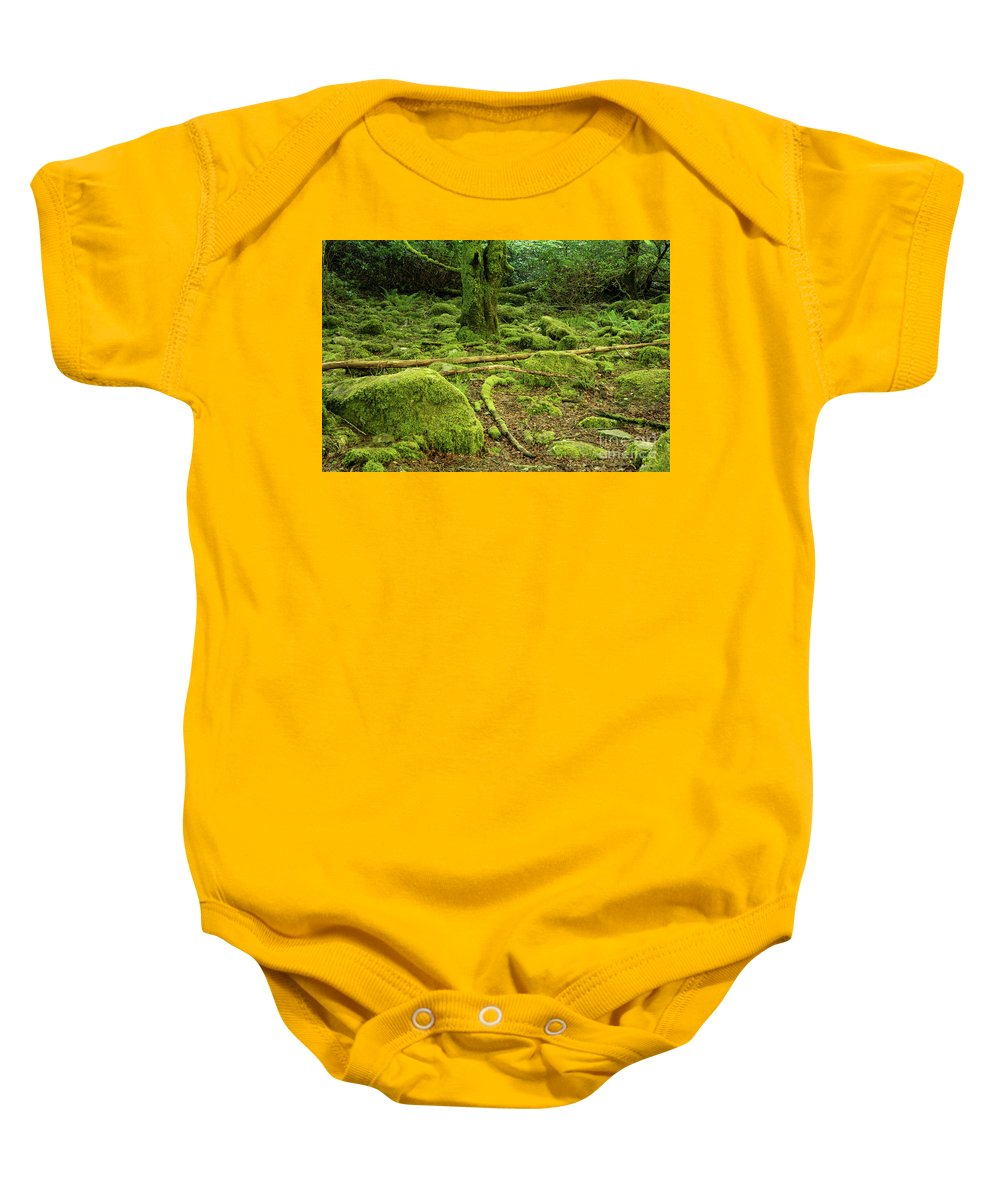 Torc Waterfalls Baby Onesie featuring the photograph Landscape At Torc Waterfalls by Bob Phillips