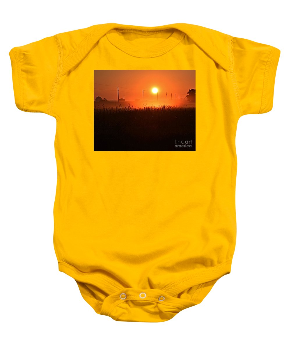 Morning Glory Baby Onesie featuring the photograph Morning Glory by Kathy M Krause