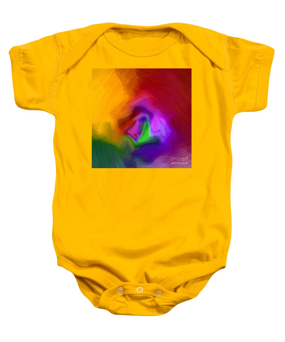 Abstract Baby Onesie featuring the drawing Multiple Colored Abstract By Delynn Addams by Delynn Addams