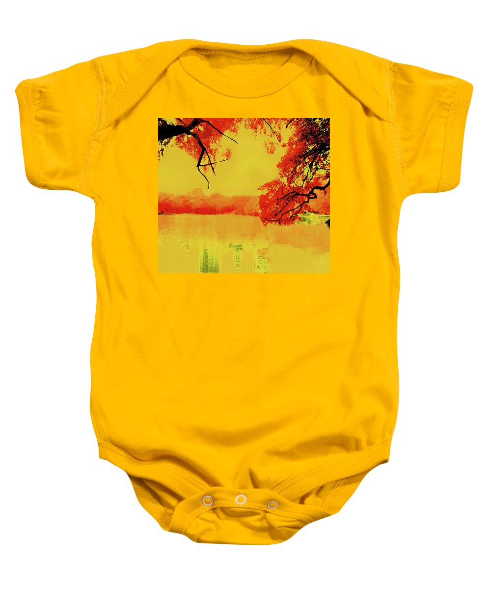 Landscape Baby Onesie featuring the photograph Psychedelic Lake by Stephen Edwards