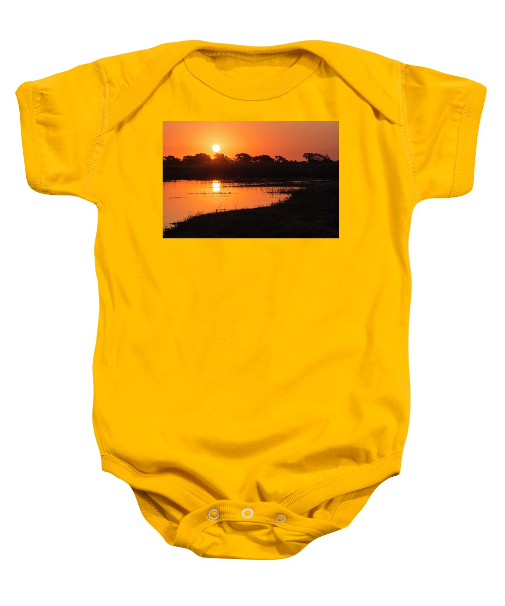 Sunset Baby Onesie featuring the photograph Sunset On The Chobe River by Claudio Maioli