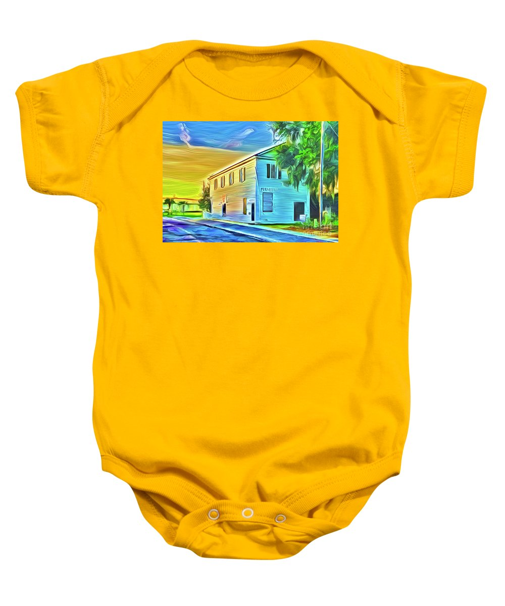 Landscape Baby Onesie featuring the digital art Furniture by Michael Stothard