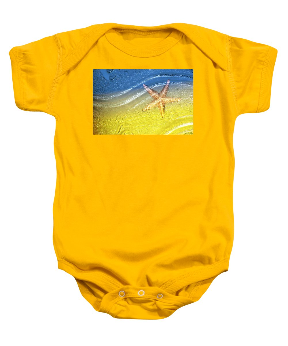 Starfish Baby Onesie featuring the photograph Going With the Flow by Holly Kempe