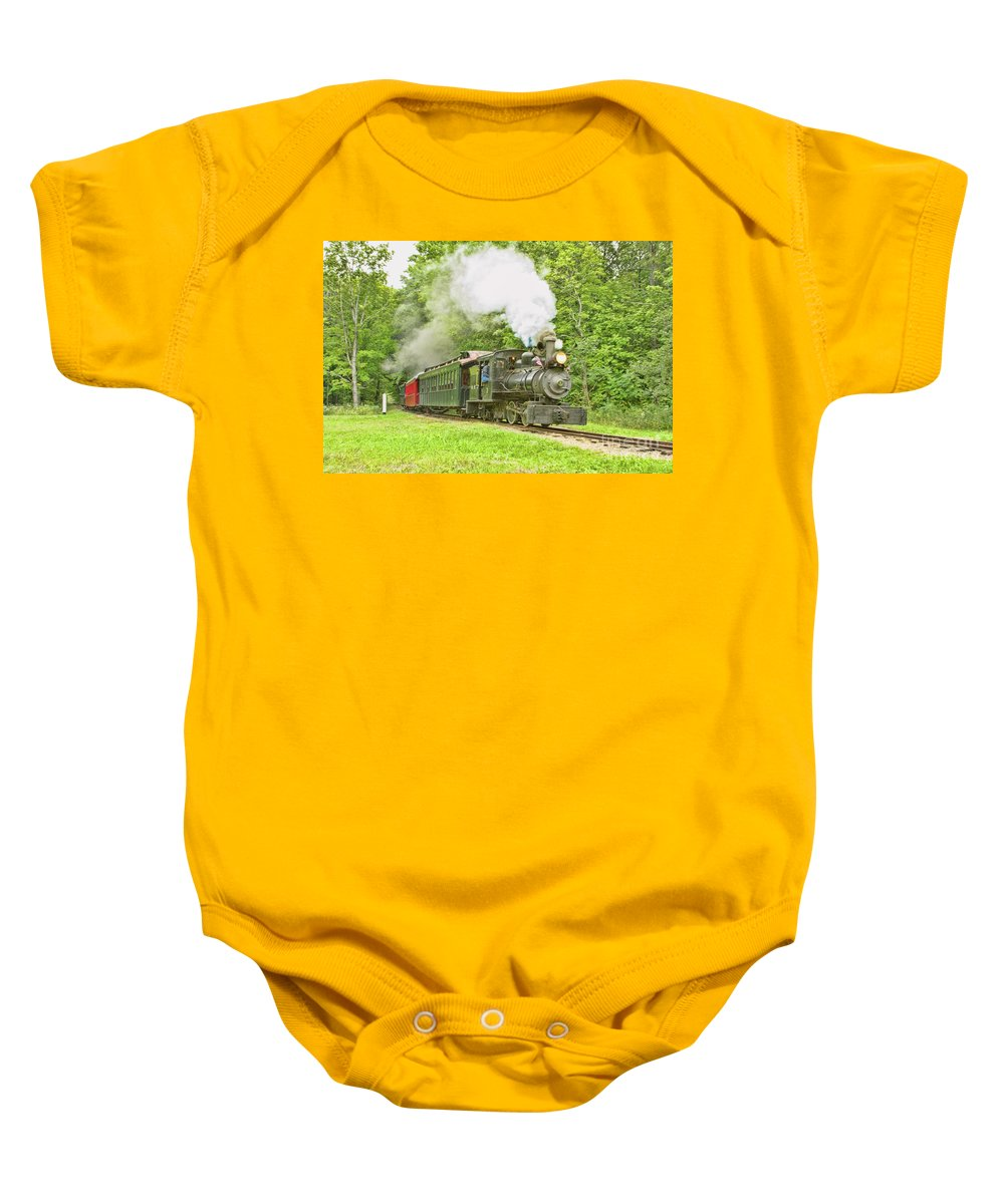 Abstracts Baby Onesie featuring the photograph Maine Coast Steam by Marilyn Cornwell