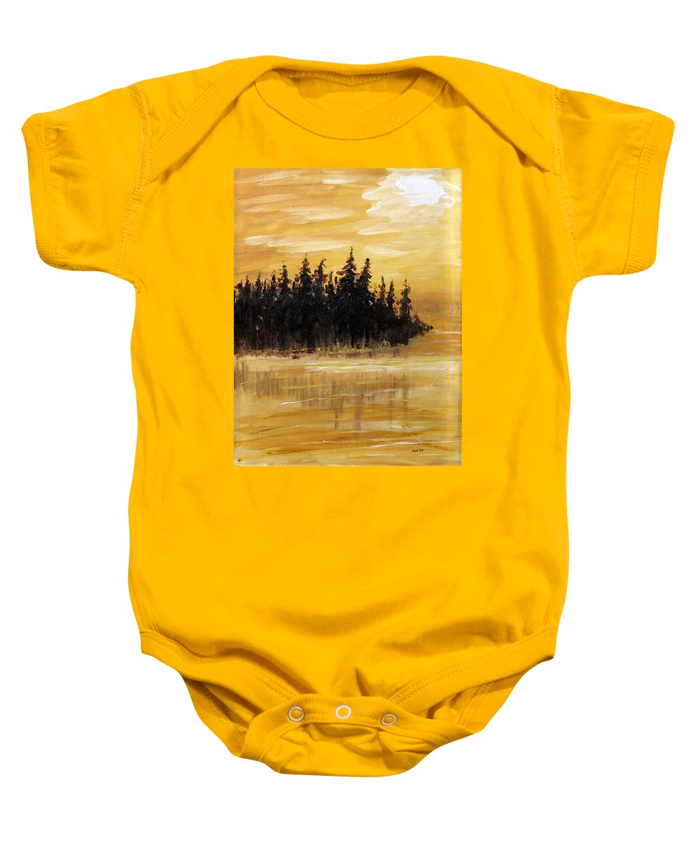 Northern Ontario Baby Onesie featuring the painting Northern Ontario One by Ian MacDonald
