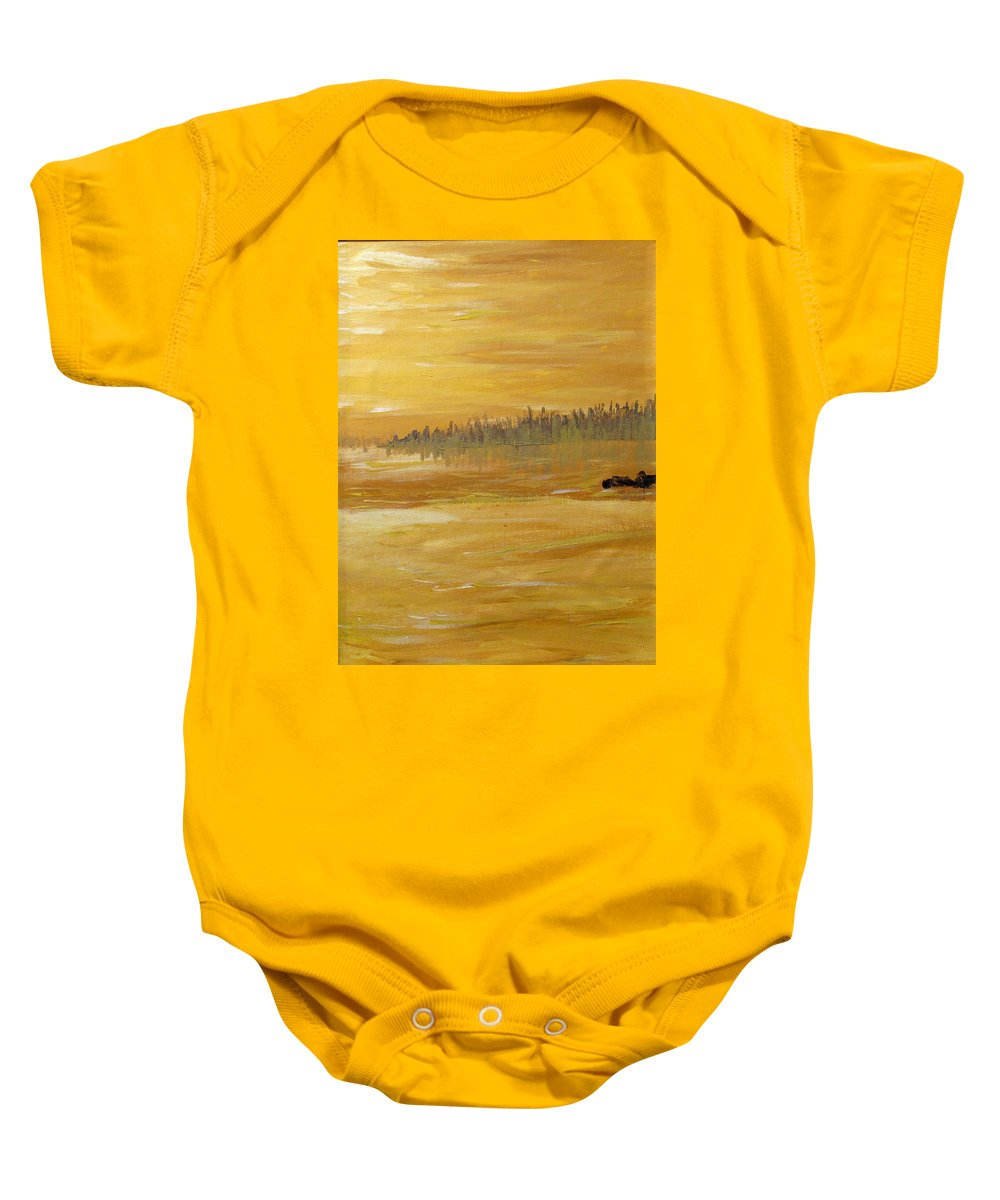 Northern Ontario Baby Onesie featuring the painting Northern Ontario Two by Ian MacDonald