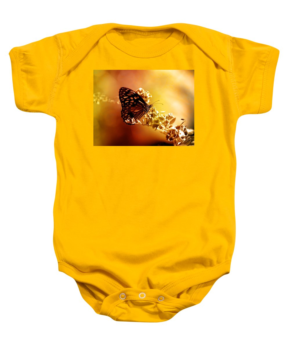 Butterfly Baby Onesie featuring the photograph Radiance by Holly Kempe