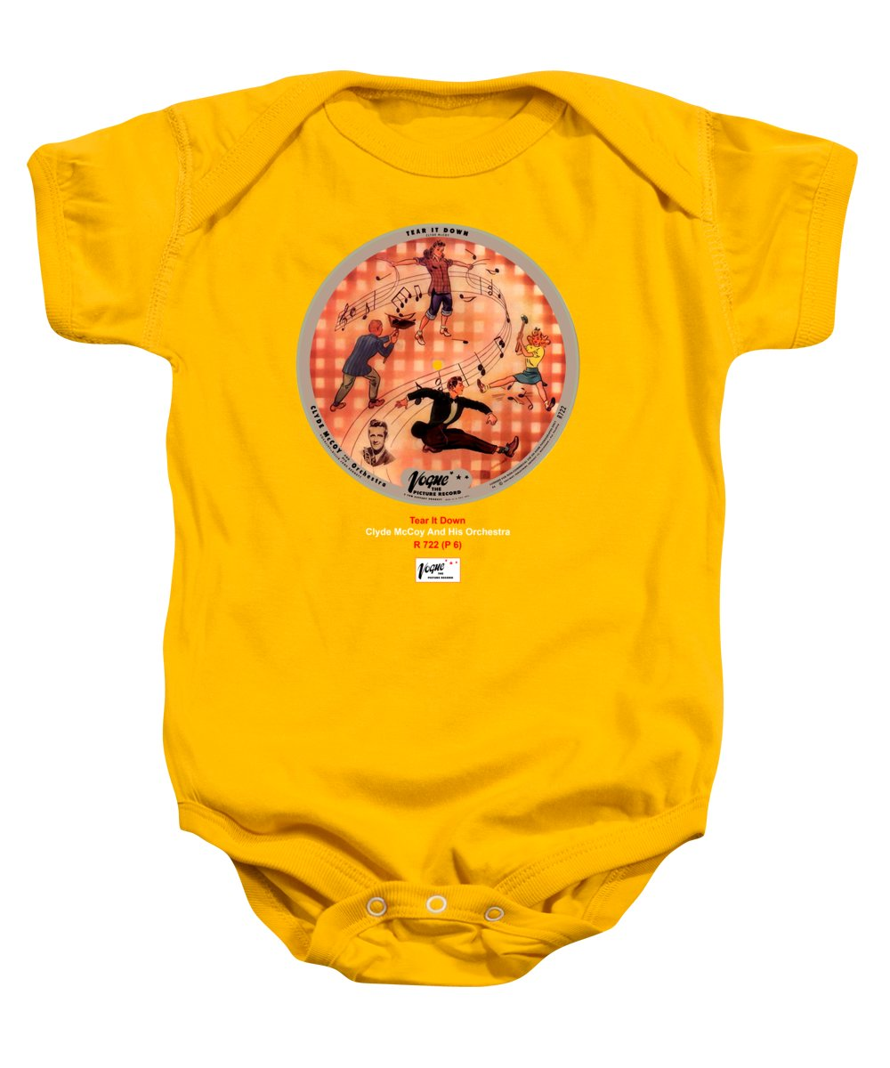 Vogue Picture Record Baby Onesie featuring the digital art Vogue Record Art - R 722 - P 6 by John Robert Beck