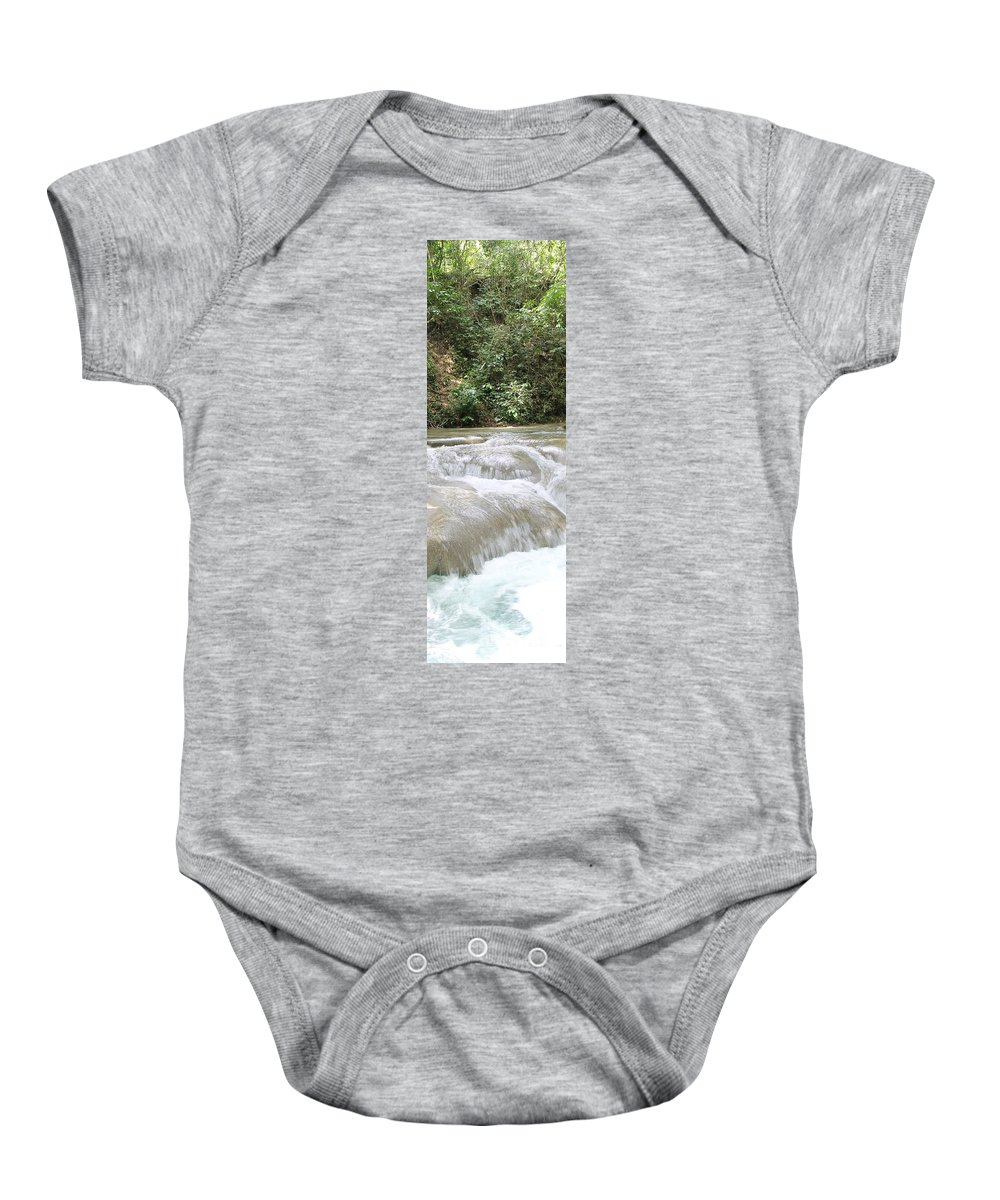 Mayfield Falls Baby Onesie featuring the photograph Mayfield Falls Jamaica 10 by Debbie Levene