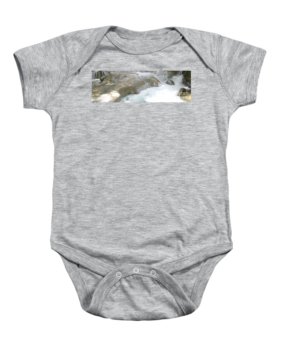 Mayfield Falls Baby Onesie featuring the photograph Mayfield Falls Jamaica 9 by Debbie Levene