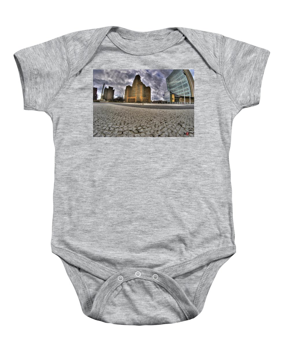 Michael Frank Jr Baby Onesie featuring the photograph 008 Entering The Traffic Circle Of Niagara Square by Michael Frank Jr