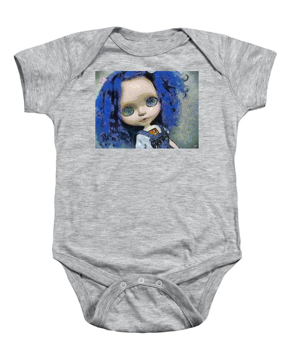 Still Life Baby Onesie featuring the painting 0143 by I J T Son Of Jesus